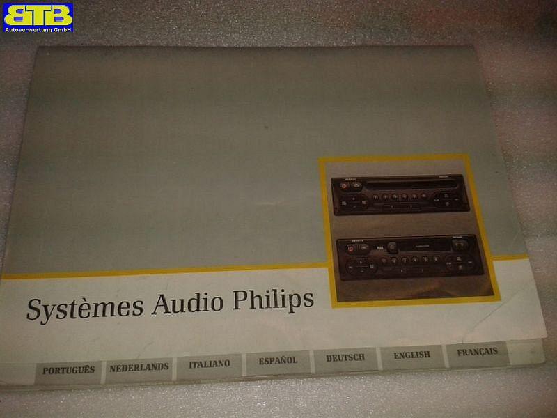 Bedienungsanleitung Systemes Audio PhilipsRENAULT LAGUNA GRANDTOUR (K56_) 1.6 16V (K568)