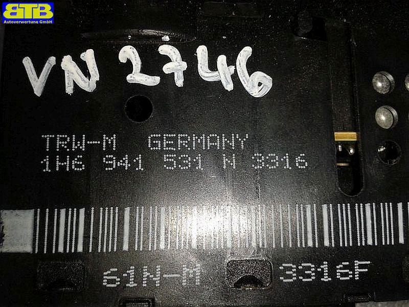 Schalter Licht 3316 / 1H6941333B / GOLF III (1H1) 1,6 VW GOLF III ...