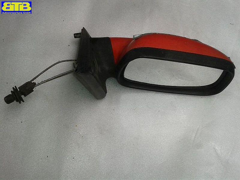 Außenspiegel mechanisch lackiert rechts 010040 / ROJO RALLY 911/ ROT / IBIZA I (021A) 1.2 ISEAT IBIZA I (021A) 1.2 I