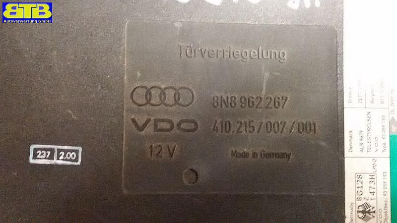 Steuergerät Zentralverriegelung 8N8962267 / TT (8N3) 1.8 TAUDI TT (8N3) 1.8 T