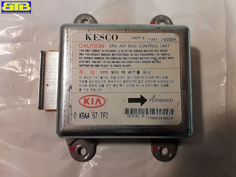 Steuergerät Airbag 0K9AA677F0 / SAT-2000A / SAT2000A / 19860438GPKIA CLARUS (K9A) 2.0 I 16V