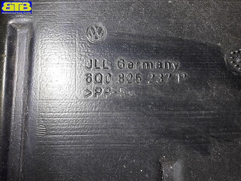 Unterbodenschutz 6Q0825237P / Unterfahrschutz aus PlastikVW POLO (9N_) 1.4 TDI