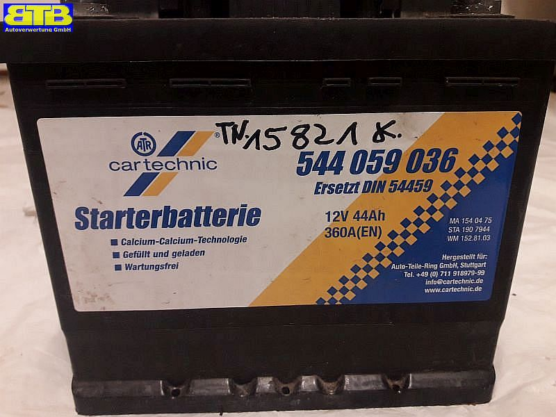 Batterie 544059036 / 12V 44Ah 360A (EN)VW GOLF III (1H1) 1.4