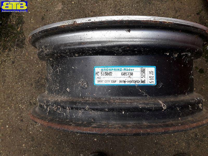 Felge Stahl / Stahlfelgen 5,5JX15H2 ET-1 LK 3X112X57 silberMCC SMART (MC01) 0.6