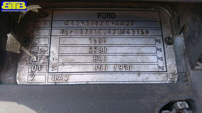 FORD FOCUS (DAW, DBW) 1.6 16V