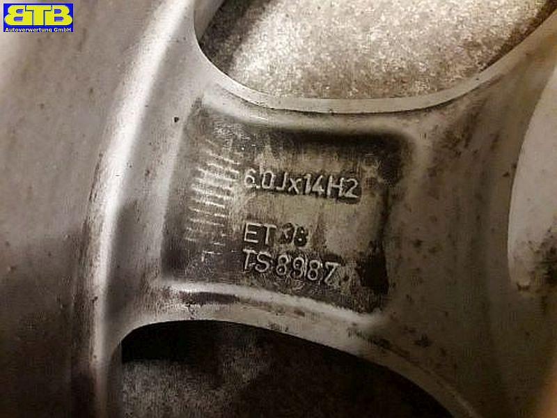 Felge: 6JX14 H2 ET38 LK4X100X56,5
