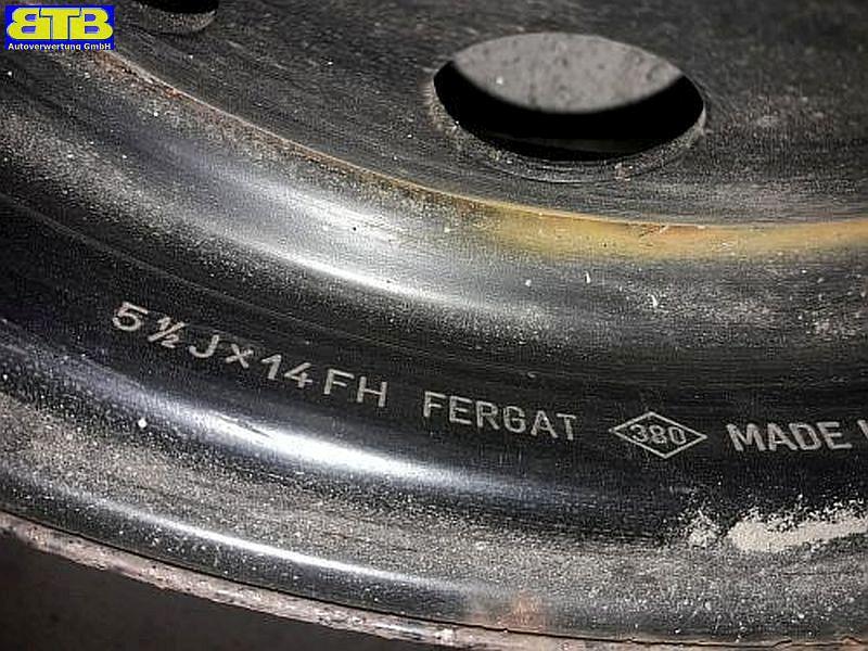 Felge: 5.5JX14 FH ET36 LK4X100X60
