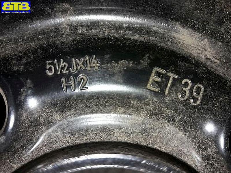 Felge: 5.5JX14 H2 ET39 LK4X100X56,5