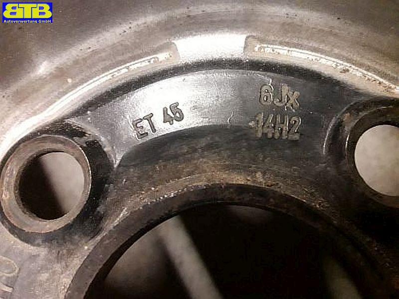 Stahlfelge 6JX14 H2 ET45 LK4X100X57
