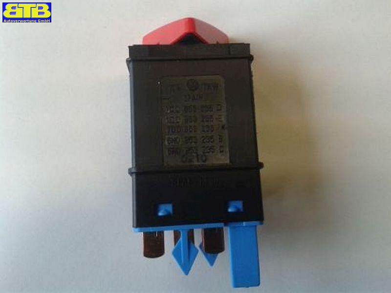 Warnlichtschalter/Warnblinkschalter/Blinkrelais feuerrot